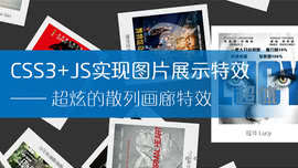CSS3+JS实现超炫的散列画廊特效